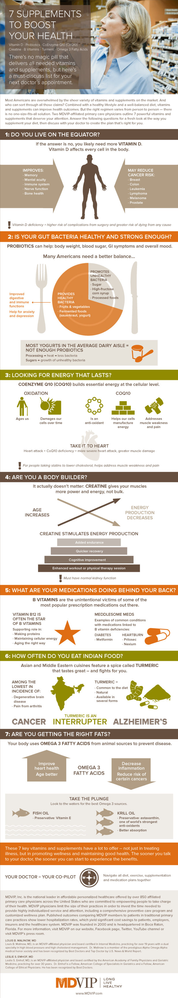 Health Boosting Vitamins and Supplements Infographic