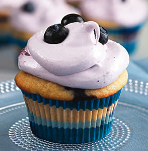 Try this Healthier Recipe for Blueberry Cupcakes