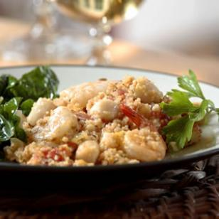 Try this recipe for Seafood Couscous Paella